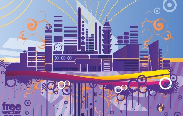 Free Abstract City Graphics