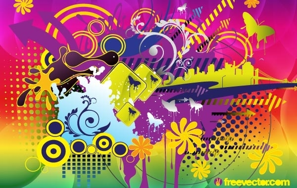 Free Colorful Summer Vector