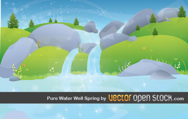 Free Pure Water Well Spring