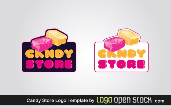 Free Candy Store Logo Template