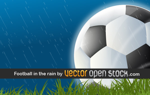 Free Football in the Rain