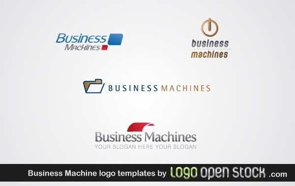 Free Business Machine Logo Template