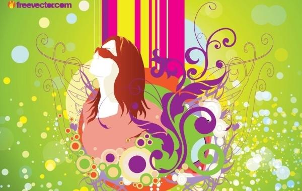 Free Spring Girl Vector