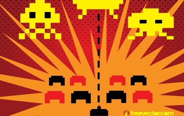 Free Space Invaders Vector