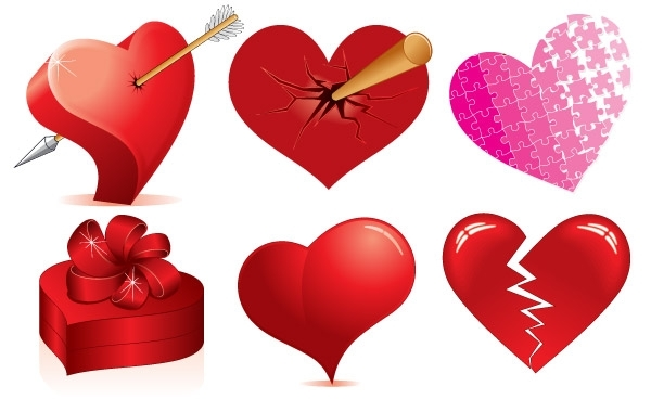 Free Love Heart Vectors