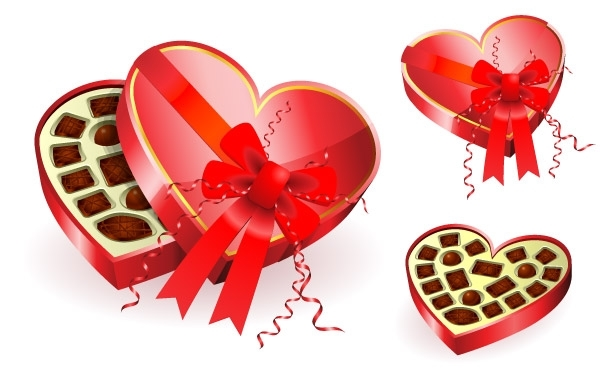 Free Heart shaped red chocolates box