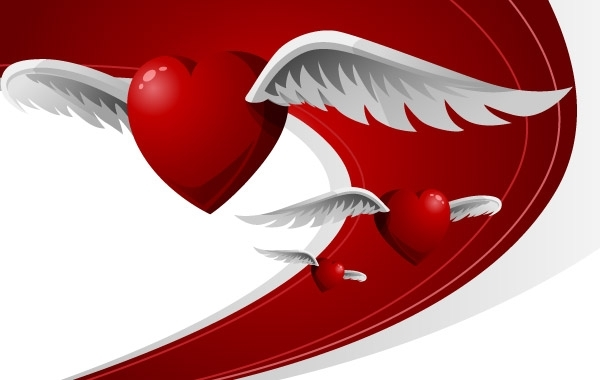 Free Heart with wings