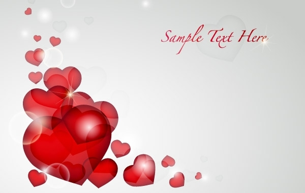 Free Valentine's Day Heart Card Vector