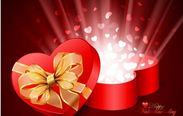 Free Valentines Day Card Vector Illustration