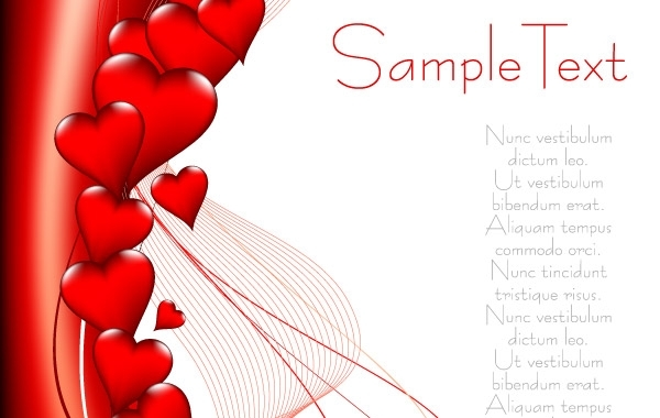 Free Valentine's Day heart-shaped vector