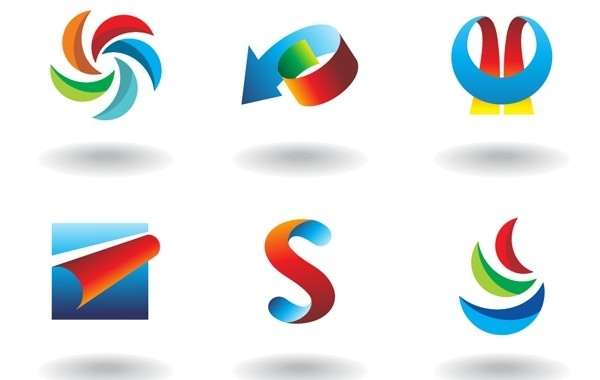 Free Abstract colorful design elements