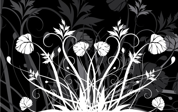 Free Flowers and Black and white