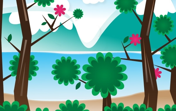 Free Simple Vector Landscape