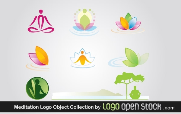 Free Meditation Logo Object Collection