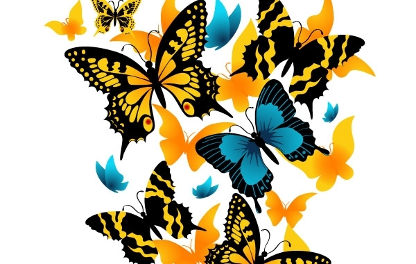 Free Vector material exquisite butterfly