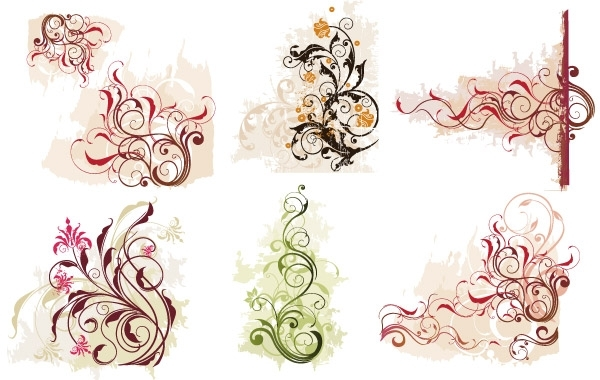 Free Swirl Flower Vector 1