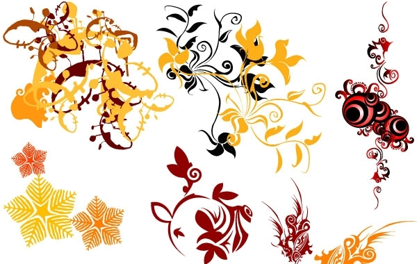 Free Swirl Flower Vector 3