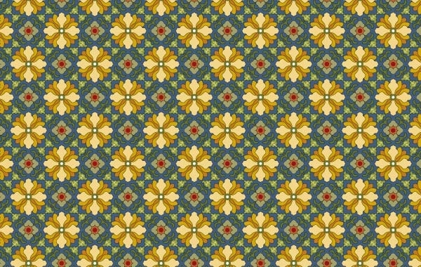 Free Classic tile pattern vector-7