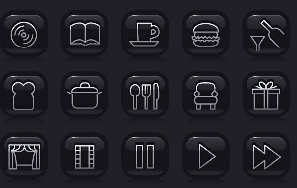Free Web2.0 simple black icon