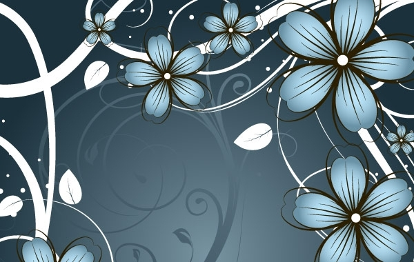 Free Vectors: Fashion flowers frame material | Anonymous