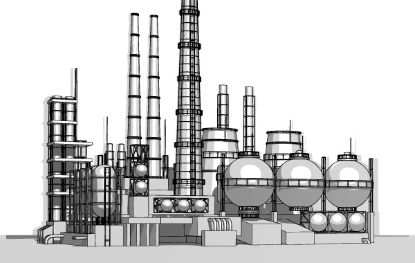 Free Vector Heavy Industries plant material