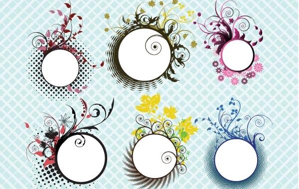 Free Floral frames