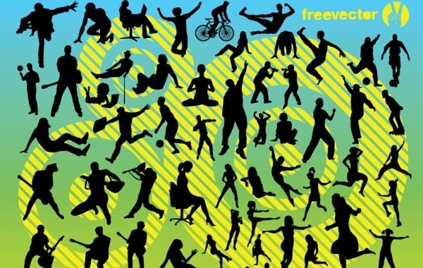Free Vectors: Active People | Free Vector