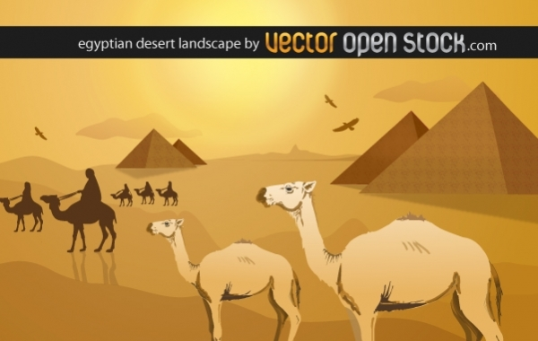 Free Egyptian desert landscape