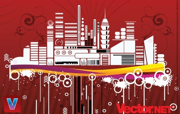 Free Free Urban City Vector Illustration