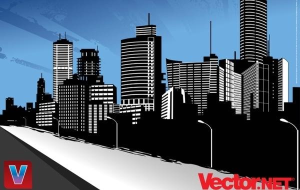 Free Vector City Skyline Art