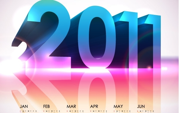 Free Cool Calendar 2011- Vector Design