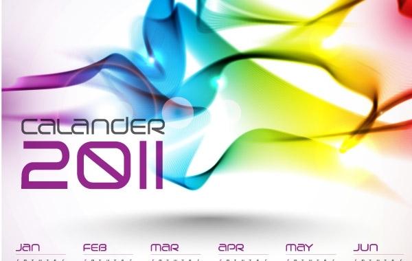 Free Stock Vector - Calendars 2011 Vector