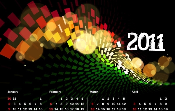 Free 2011 Calendar and Grid