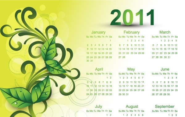 Free Colorful 2011 Vector Calendars