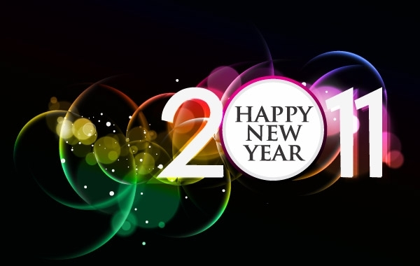 Free 2011 HAPPY NEW YEAR POSTER FREE VECTOR