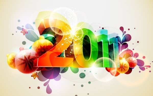 Free Happy New Year Vectors 3