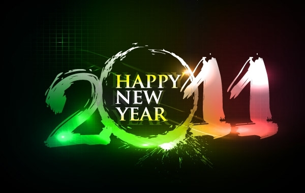Free Happy new year 2011 eps Vector part03