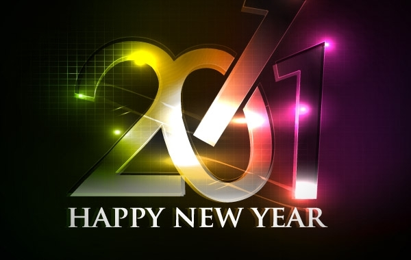 Free happy new year 2011 eps Vector part04