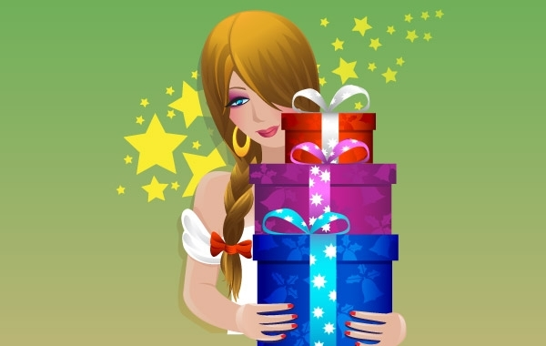 Free GIFT VECTOR MATERIAL