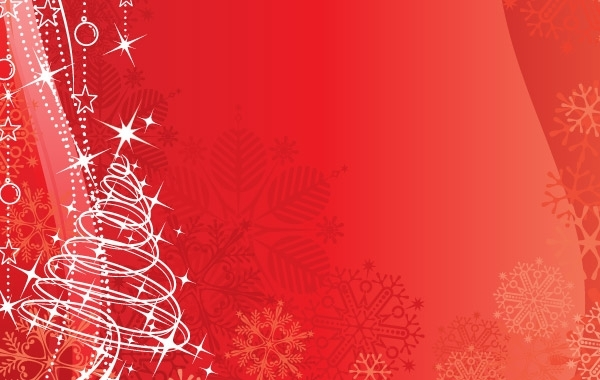 Free Red vector background Christmas & New-Year