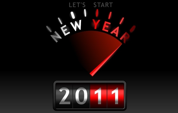 Free New Year 2011 Vector