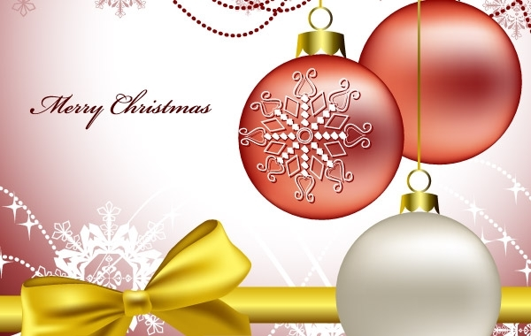 Free White and red christmas vectors