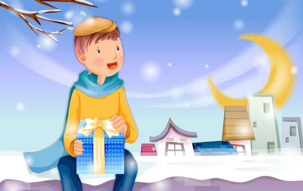 Free Christmas card with gifts