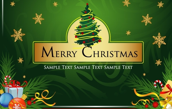 Free Merry Christmas Vector Art