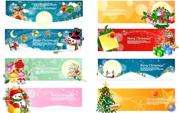 Free Vector Christmas Banners 2