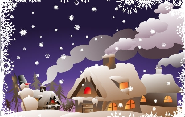 Free Winter Christmas Vector Illustration