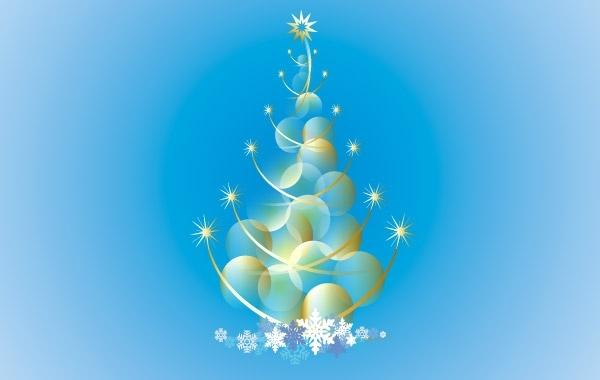 Free Abstract Christmas Tree Vector