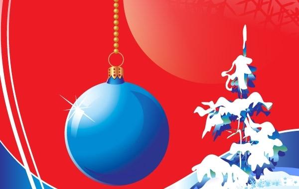 Free Blue Christmas Vector Design Theme