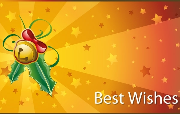 Free Christmas Best Wishes Cards Vector