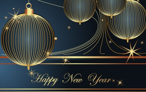Free Happy New Year Vector Decoration Element